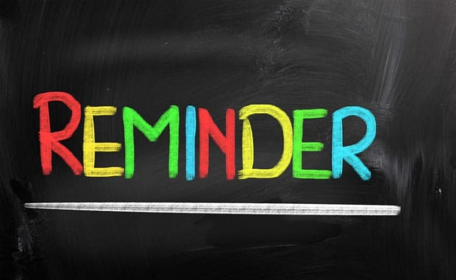 PTU Reminders (Youth Sector) - September 2021